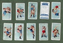 Collectable cigarette cards set 1913 WRESTLING & JU-JITSU  jujitsu